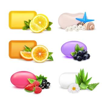 Conjunto de barras de aroma de jabón
