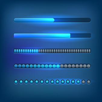 Conjunto de barras de progreso