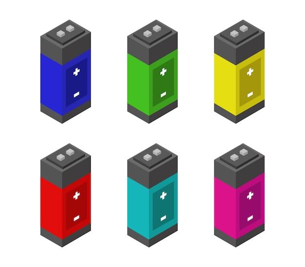 Conjunto de baterías isométricas