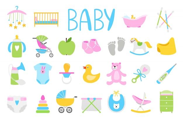 Conjunto de bebé de dibujos animados