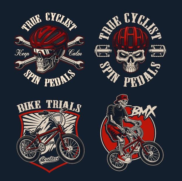 Conjunto de bicicletas temáticas para ropa.