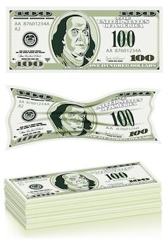 Conjunto de billetes de dólar