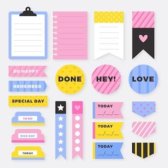 Conjunto de bloc de notas planificador