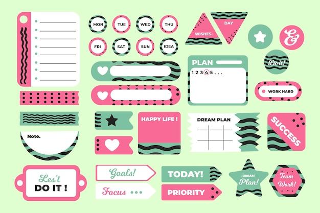 Conjunto de bloc de notas de planificador