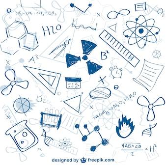 Conjunto de bocetos de ciencia