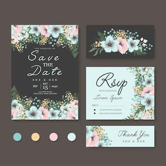 Conjunto de boda floral