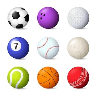 Conjunto de bolas ilustración vectorial
