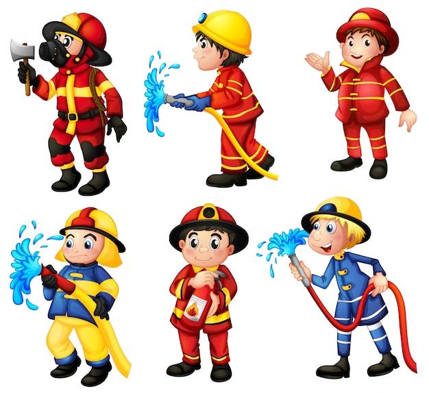 Conjunto de bomberos