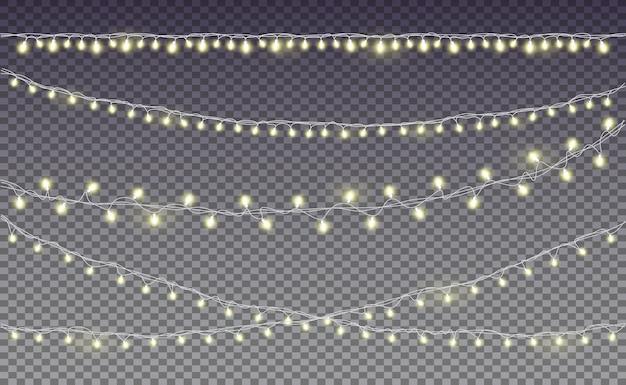 Conjunto de bombillas de luces. premium.