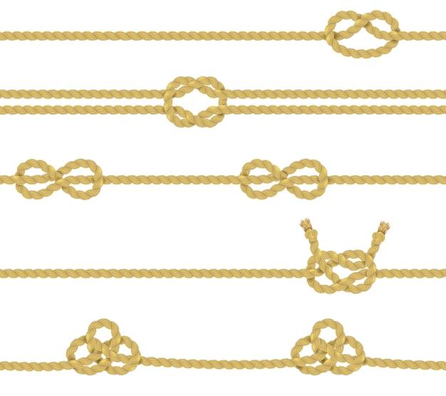 Conjunto de borde de cuerda tejida
