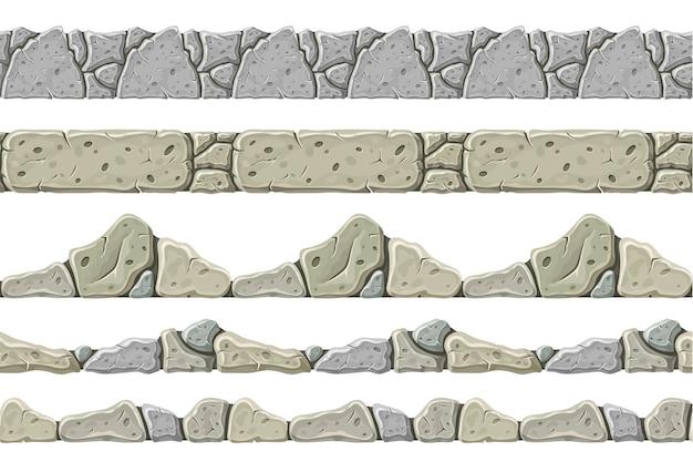 Conjunto de borde gris antiguo transparente.
