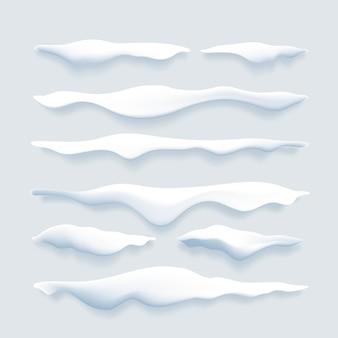 Conjunto de bordes de nieve realista