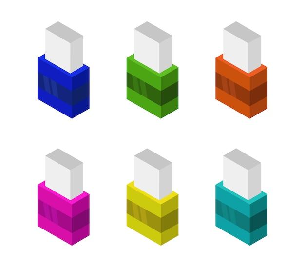 Conjunto de borradores isométricos