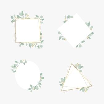 Conjunto botánico de marco de boda