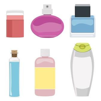 Conjunto de botella cosmética