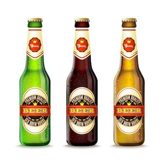 Conjunto de botellas de cerveza