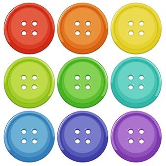 Conjunto de botón colorido