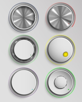 Conjunto de botones de control de volumen de realidad.