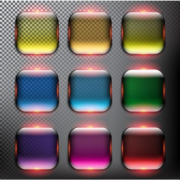 Conjunto de botones de cristal