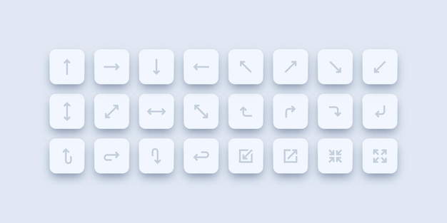 Conjunto de botones de flecha