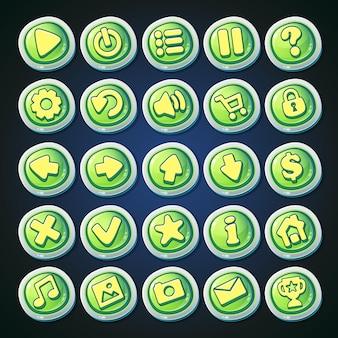 Conjunto de botones de historieta cómica