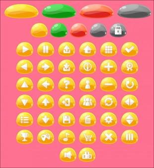Conjunto de botones de juego de jalea