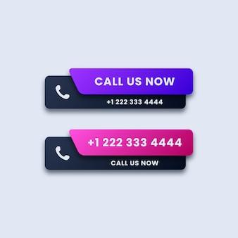 Conjunto de botones de llamarnos ahora