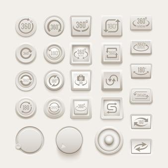 Conjunto de botones rotativos.