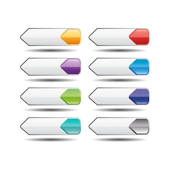 Conjunto de botones del sitio web