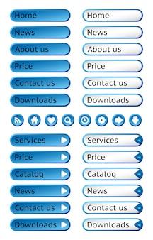 Conjunto de botones web