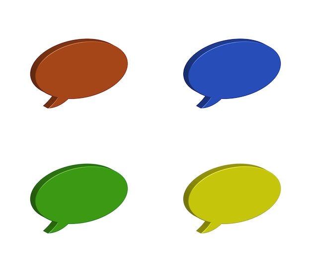 Conjunto de burbujas de diálogo