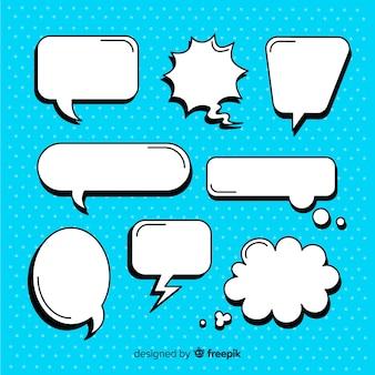 Conjunto de burbujas de discurso cómico vacío