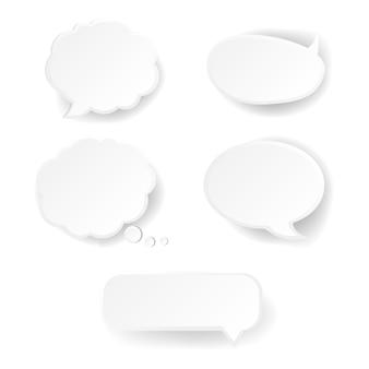 Conjunto de burbujas de discurso