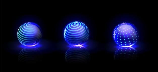 Conjunto de burbujas de energía