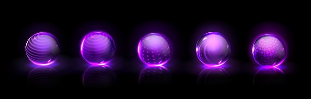 Conjunto de burbujas de escudo de fuerza