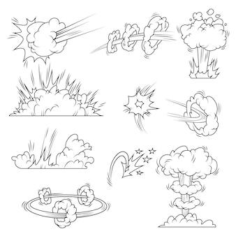 Conjunto de burbujas de explosión