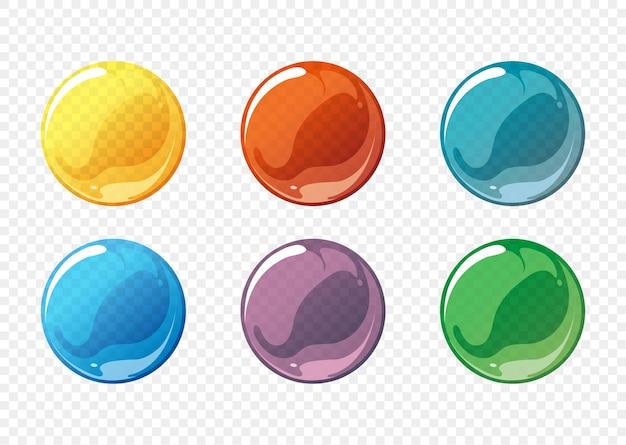 Conjunto de burbujas de jabón de dibujos animados