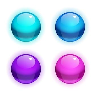 Conjunto de burbujas realistas vectoriales