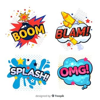 Conjunto de burbujas de texto de comic