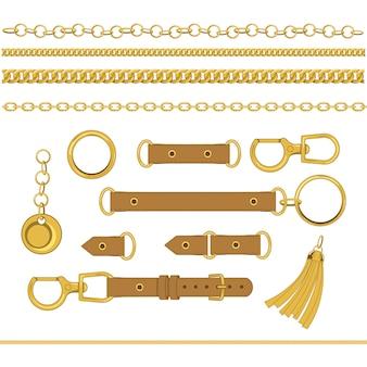 Conjunto de cadenas y accesorios.
