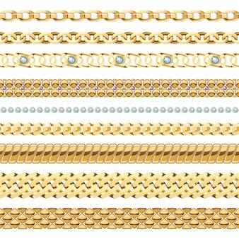 Conjunto de cadenas de joyas