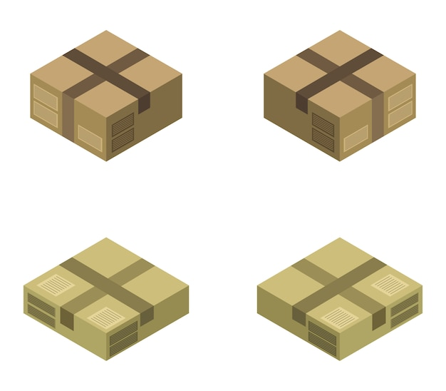 Conjunto de caja isométrica