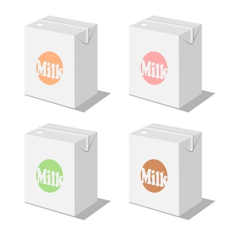 Conjunto de caja de leche