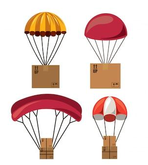 Conjunto de caja de paracaidista