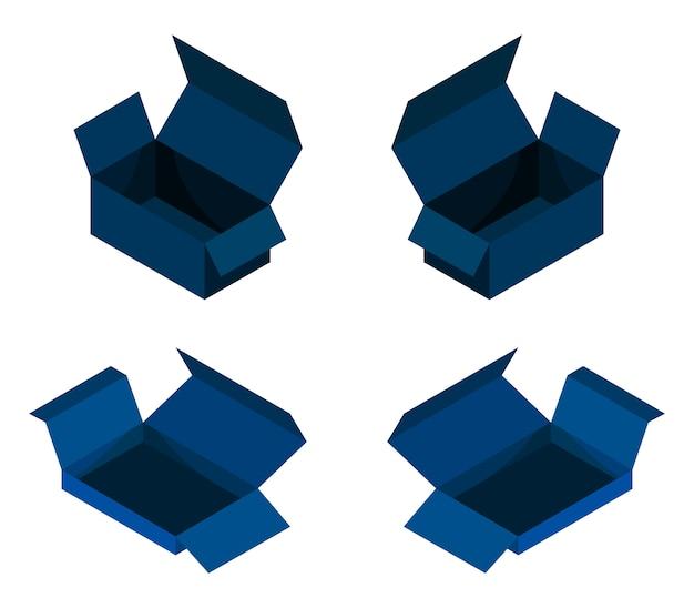 Conjunto de cajas isométricas
