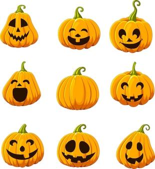 Conjunto de calabaza de halloween
