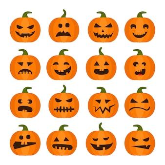Conjunto de calabaza de vector halloweens