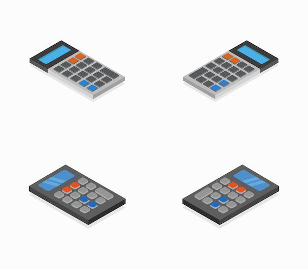 Conjunto de calculadoras isométricas