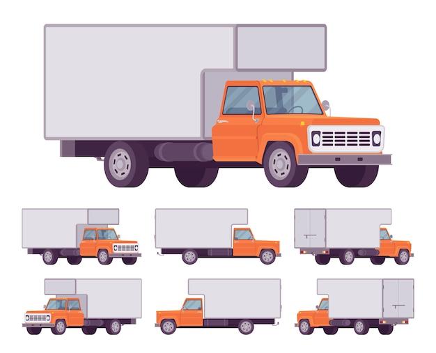Conjunto de camión naranja