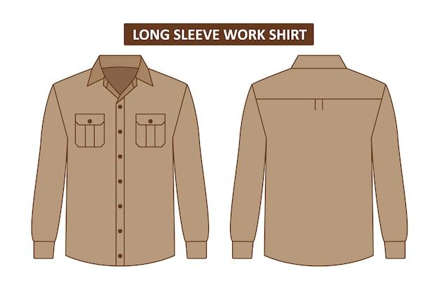 Conjunto de camisa de trabajo con bolsillo
